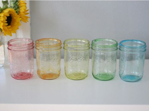How to Make Your Own Colored Mason Jars, by blogger Liz Stanley of Say Yes
