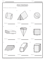 33 Volume Compound Shapes Worksheet Answers - Free ...