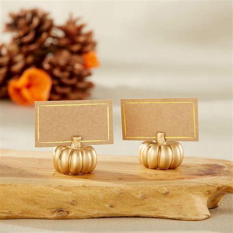 Gold Pumpkin Place Card Holder (Set of 6)   Kate Aspen