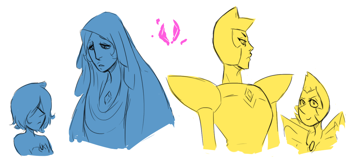 """""""I miss her too """" //I wanted to draw the diamonds so help me"""