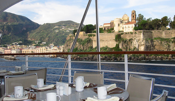Seabourn Legend breakfast in Lipari