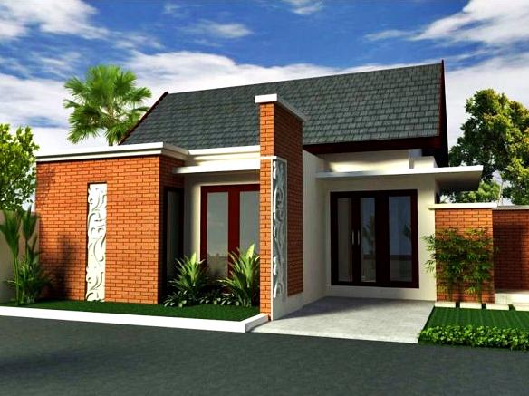 Rumah Minimalis Tampak Depan Dengan Batu Alam Keren Desain Rumah Minimalis