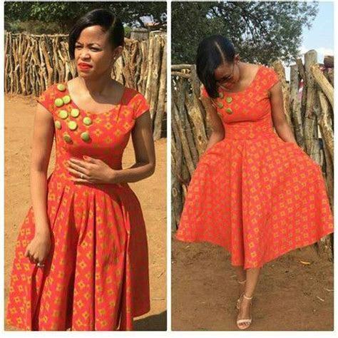 Orange Shweshwe Dresses