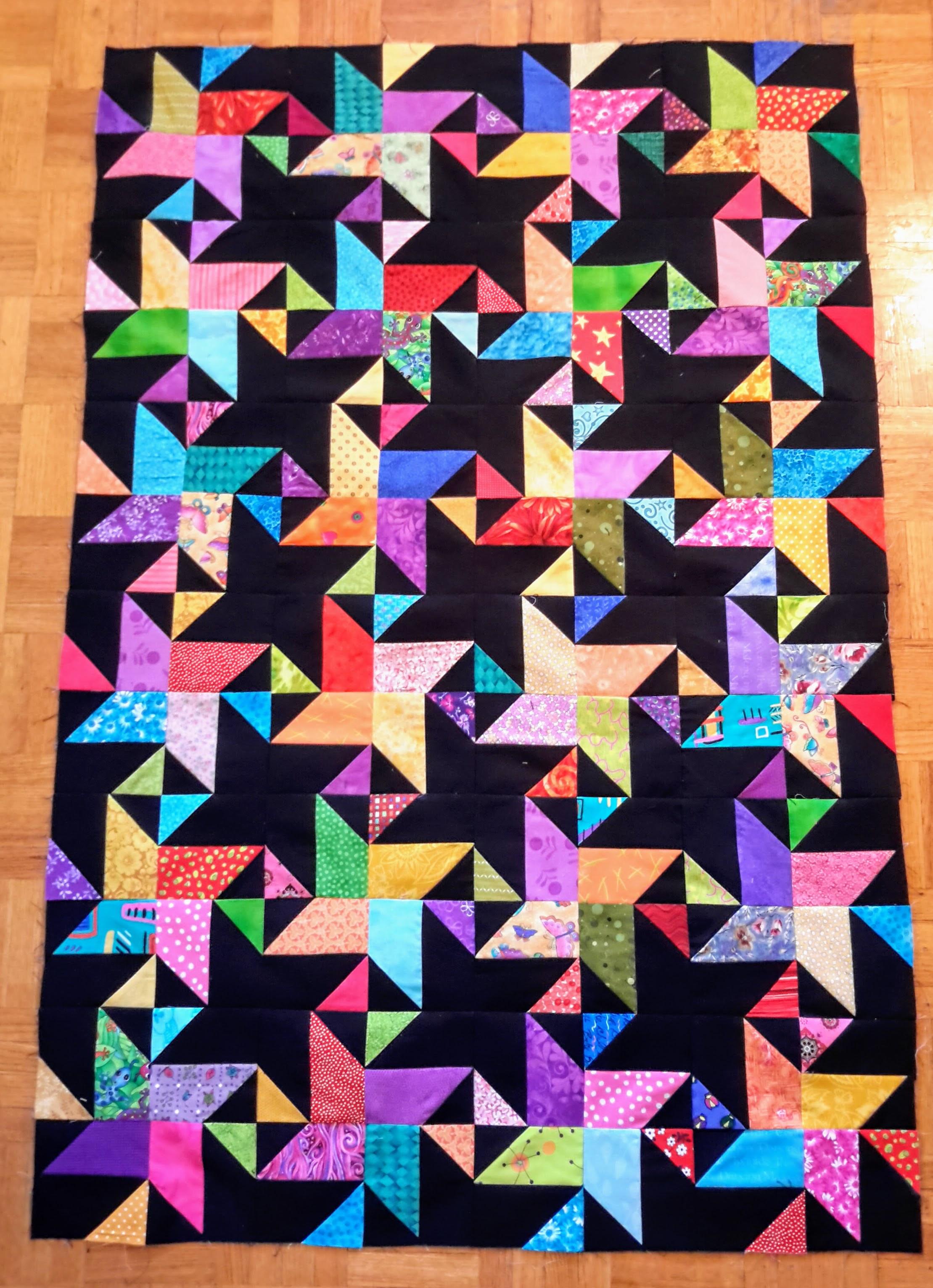 starstruck quilt, bonnie hunter, scrappy quilt