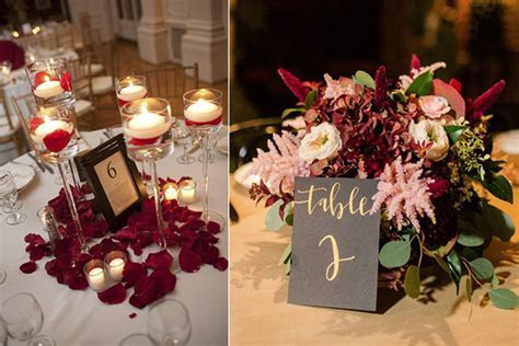 Wedding Decoration Ideas: Red, White and Black Table