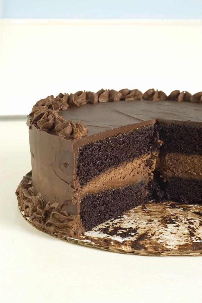 intense deep chocolate cake - inside