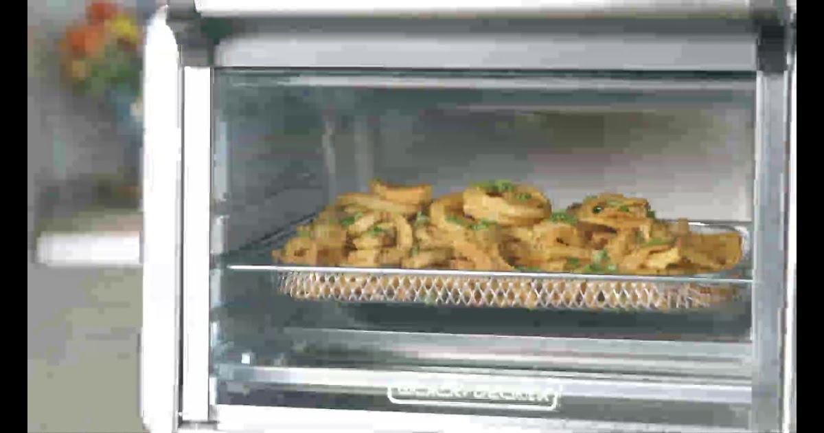 Black And Decker Toaster Oven Air Fryer Chicken Wings