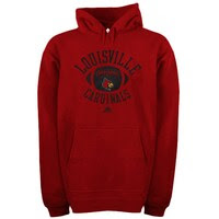 adidas Louisville Cardinals Football Practice Hoodie - Red