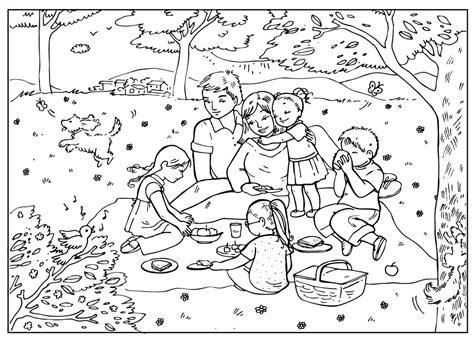 boyama sayfasi piknik yapmak
