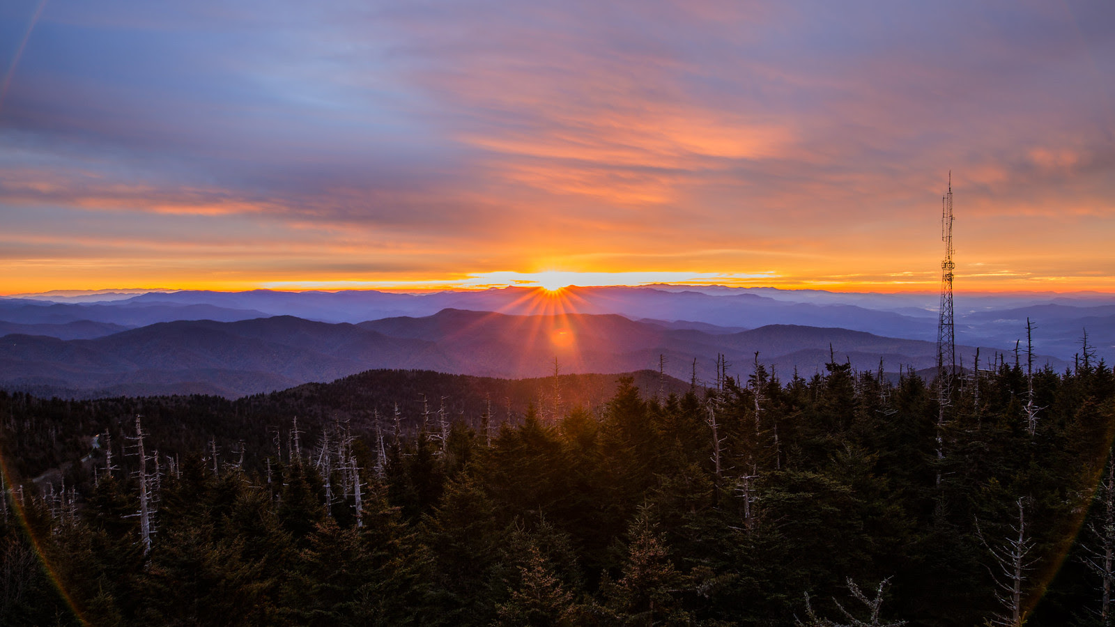 Sunrise at Great Smoky Mountains