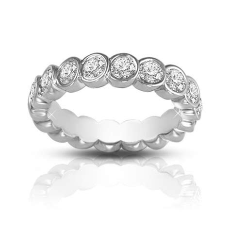 2.00 ct Round Cut Diamond Eternity Wedding Band Ring In