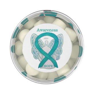 Teal Green Awareness Ribbon Angel Custom Gum Gifts