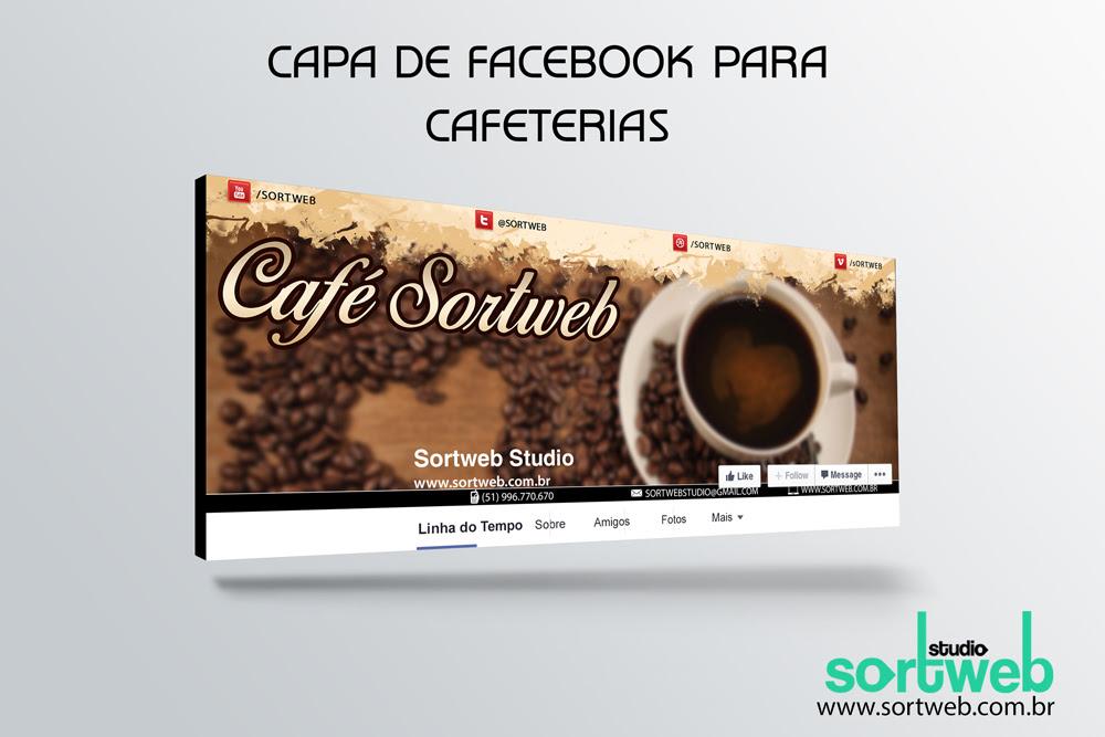 Capa de Fanpage para Cafeterias