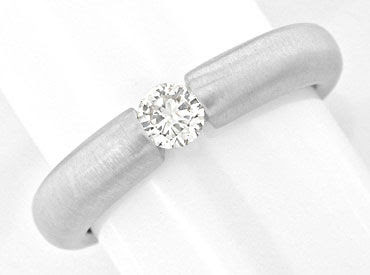 Originalfoto BRILLANT-SPANN-RING 0,20ct DIAMANT 18K WEISSGOLD LUXUS!