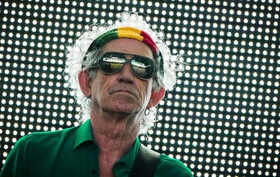 Keith Richards, concentrado, en uno de los conciertos de la última gira de los Rolling Stones en Berlin, en 2014.
