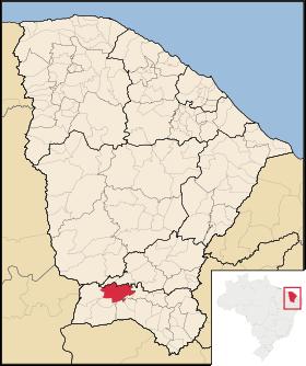 Localização de Assaré