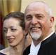 Peter Gabriel with his wife Meabh