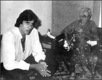Amitabh Bachchan with mother Teji