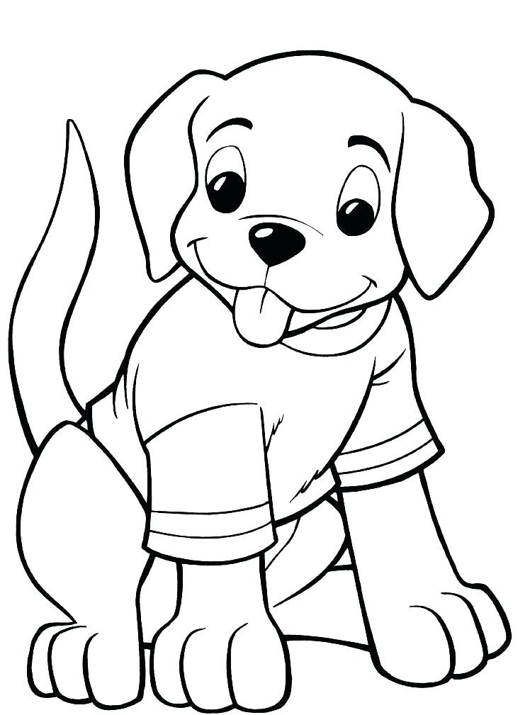 Easy Puppy Coloring Pages at GetColorings.com | Free ...