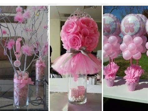 25 DIY Baby Shower Centerpieces for Girls   YouTube   All