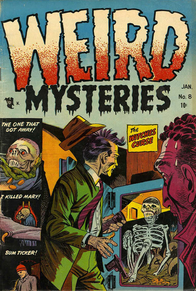 Weird Mysteries #8 Bernard Bailey Cover (Gillmor, 1954)