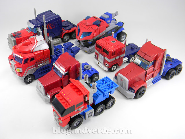 Transformers Optimus Prime Kre-O - modo alterno vs otros Optimus