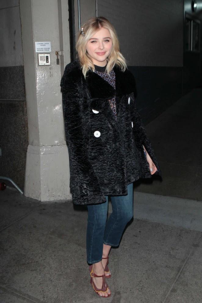 Chloe Moretz Leggy in Short Dress -33