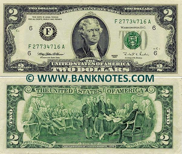 United States Federal Reserve Notes Currency Gallery