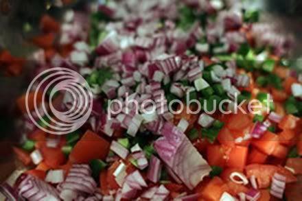 Making of salsa Fresca