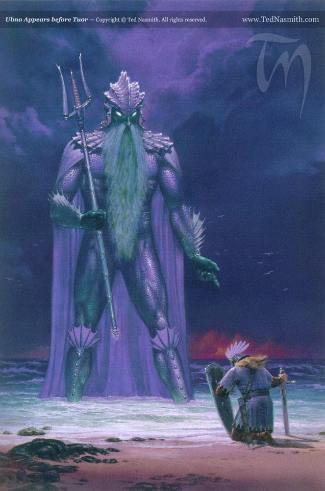 Ulmo Appears before Tuor by Ted Nasmith