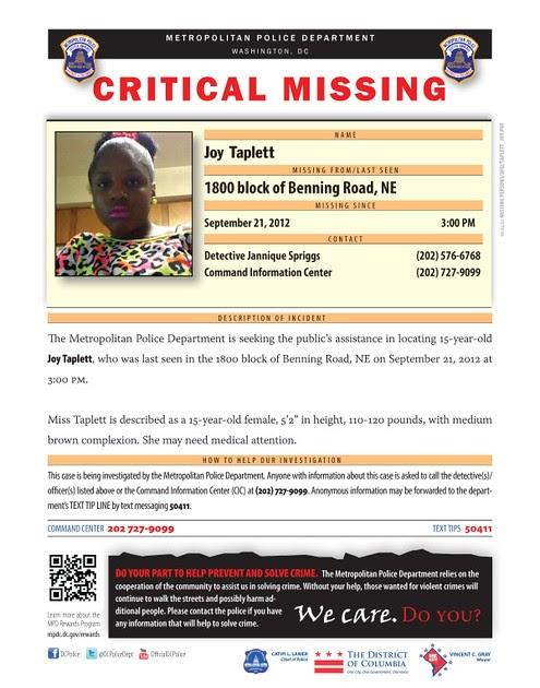 Missing 15 Year Old Girl Found: Frozen Tropics: Missing: 15 Year Old Joy Taplett
