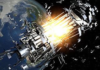Dibujo de explosión de satélite