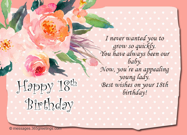 18th Birthday Wishes Messages And Greetings 365greetings Com