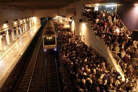 Uno de los andenes del STC Metro. Foto:  Hugo Cruz