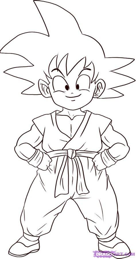 draw son goku step  step dragon ball