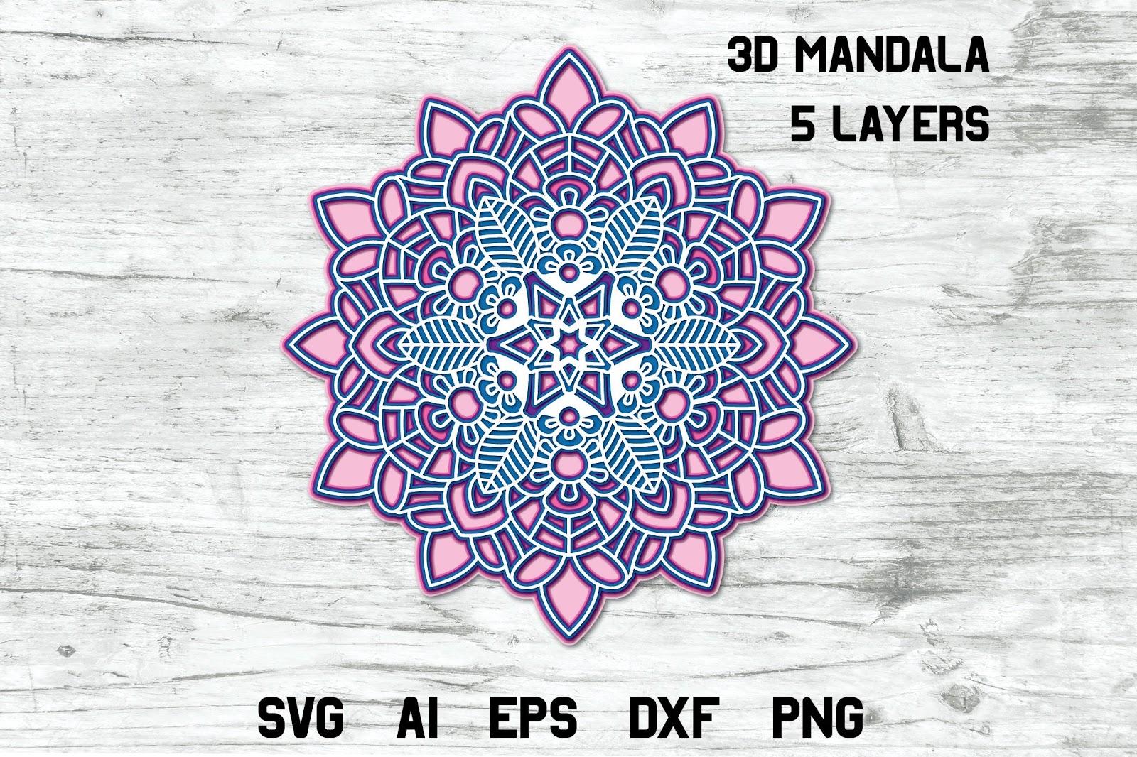 Multi Layered Mandala Layered L Svg - Free Layered SVG Files