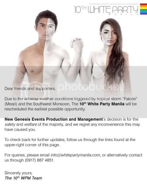 10th White Party Manila Announcement