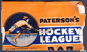 Paterson's hockey bar wrapper