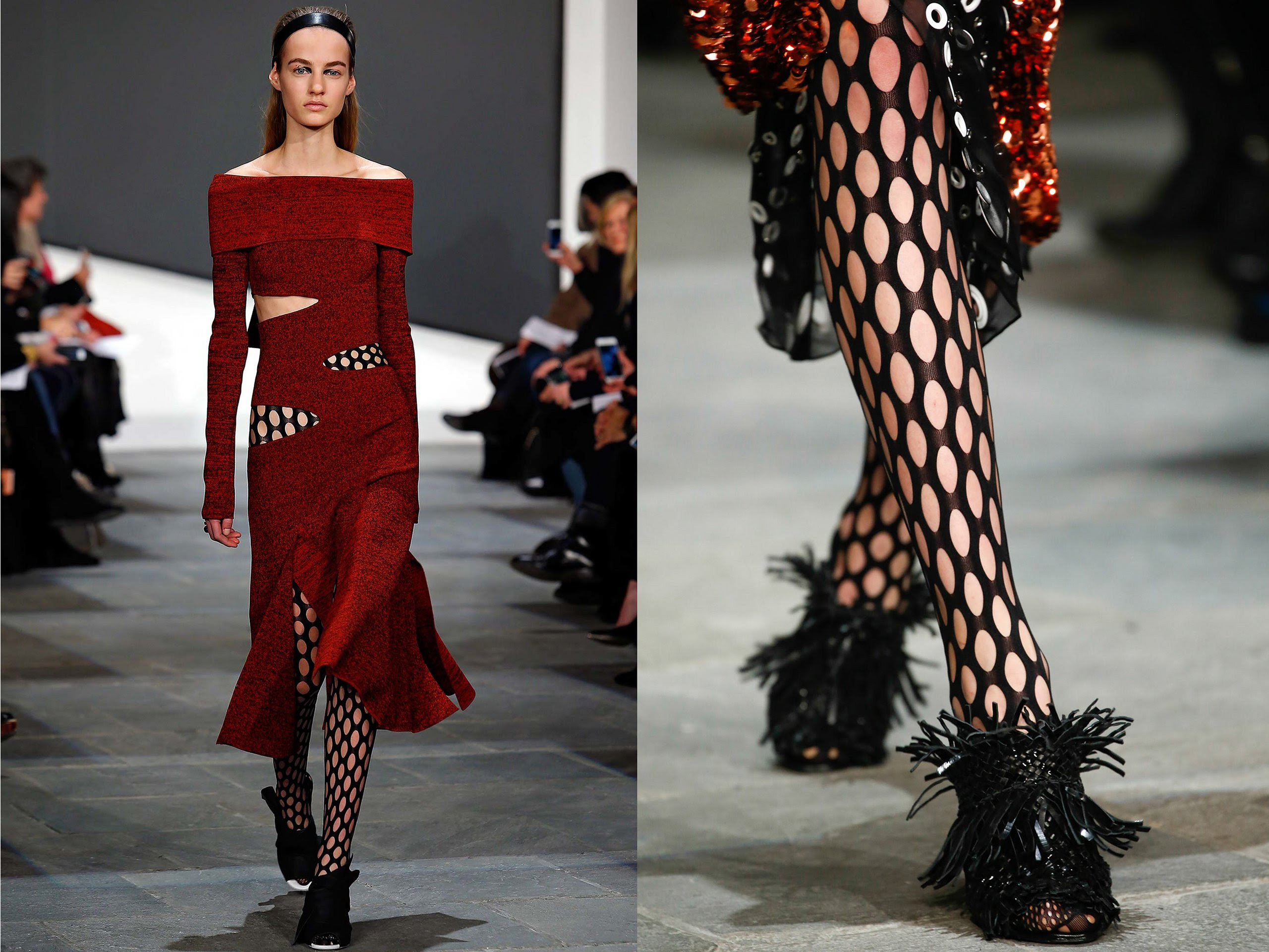 Image result for fish net trend spring summer 2019 off the runway