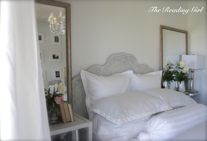 Shabby Chic Headboard - Cottage - bedroom - The Reading Girl