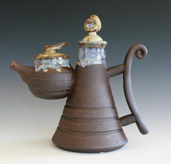 Offspring Teapot, Handmade Stoneware Teapot, Ceramic Teapot