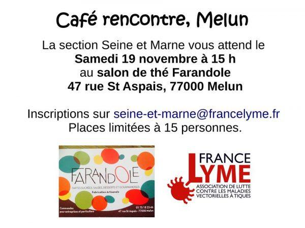 Café rencontre en Seine et Marne, 19 novembre 2016