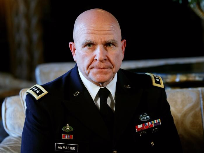 National Security Adviser Army Lt. Gen. H.R. McMaster listens as U.S. President Donald Trump makes the announcement at his Mar-a-Lago estate in Palm Beach, Florida U.S. February 20, 2017.  REUTERS/Kevin Lamarque