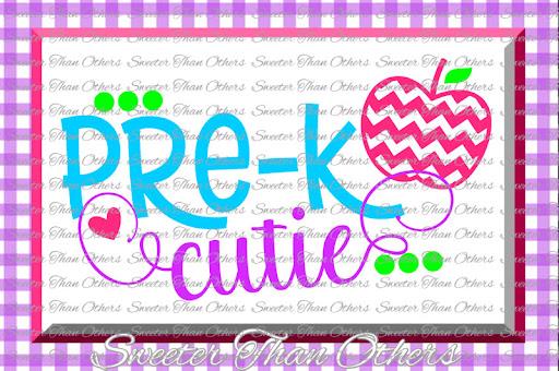 Download Free Pre K Cutie SVG Pre Kindergarten cut file Last Day of ...