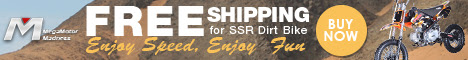 Free Shipping for SSR Dirt Bike! Enjoy Speed, Enjoy Fun! Buy Now!