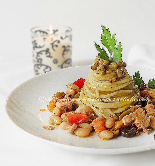 spaghetti mediterranea azuki