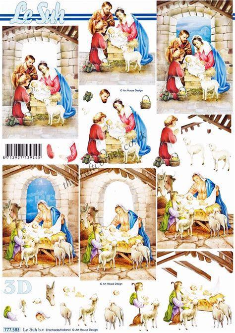 Christmas Nativity Scenes 3d Decoupage Sheet