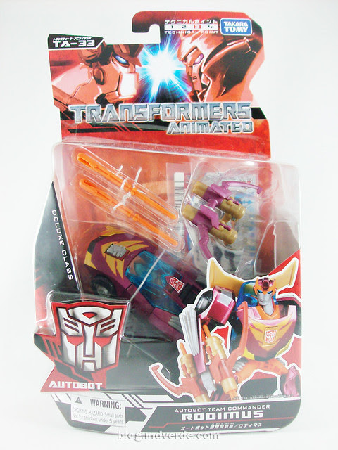 Transformers Rodimus Animated Deluxe Takara - caja