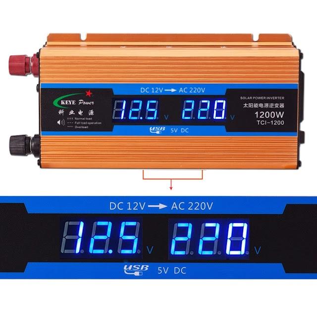 Kopen Goedkoop 1200 W Auto Omvormer 12 V 220 Spanning Converter Naar Charger Volt Display CY892 Online