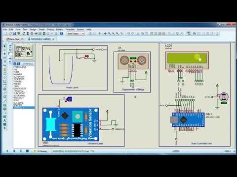 Bridge Monitoring system simulation with arduino